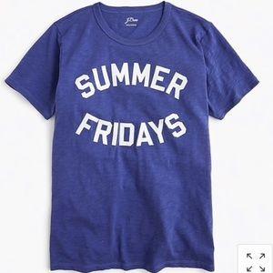J. Crew Summer Friday Tee Blue XL